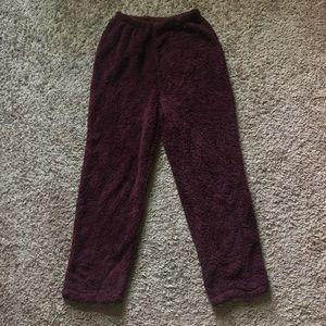 SHEIN Elastic Waist Teddy Pants